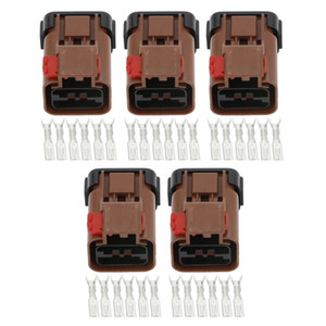 5 Sets 6 Pin Female Plastic Automotive Connector Car Connector Plug with Terminal DJ7066-2.8-21