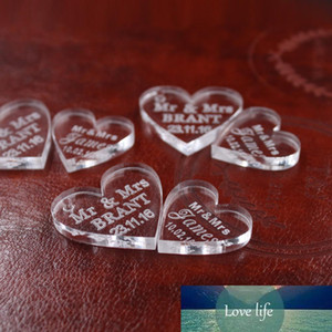 Customized crystal Heart Personalized MR MRS Love Heart Wedding souvenirs Table Decoration Centerpieces Favors and Gifts
