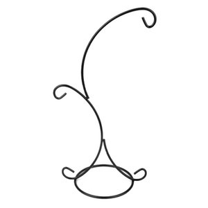 Hanging Plant Stand Holder With 2 Hooks For Garden TIsch Flowers Plant Decor Black