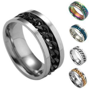 Valentine'S Day Gift- Mixed Order Dropshipping Stainless Steel Rings Mens Ring Chain And Tyre Design Rings Jewelries Factory Supplier 414 #28