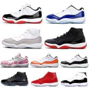 nike air jordan retro 11 Ретро 11s Баскетбольная обувь 11 Snakeskin Concord 45 Кепка и платье Мужские кроссовки Спортивные кроссовки 7-13