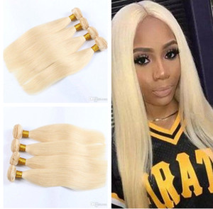 8A Peruvian Straight Hair 100% Human Hair Extensions #613 Color 8-30 Inch 4 PCS Human Hair Weaving Blonde Bundles