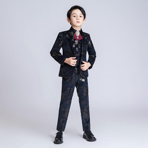 YuanLu Kids Suits For Boy Infantil Menino For Wedding Blazer Jacket Formal Boys Suits Blazer Vest Pants Kinderkleding Jongens