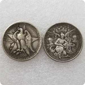 prata antiga MOEDAS EUA 1934-1938 TEXAS Commemorative Half Dollar CÓPIA