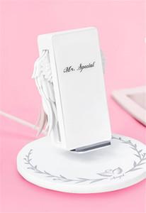 Беспроводное зарядное устройство Angel Wings 10W быстрая зарядка с ночником Держатель телефона Универсальный мобильный телефон для iPhone 8 X XR Android и airpods 2 car