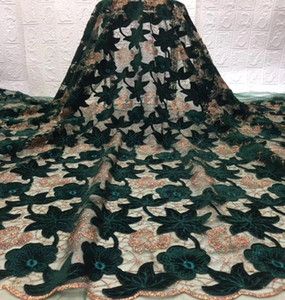 New Arrival Fabrics African Nigerian Tulle Mesh Lace Fabric for Wedding Velvet Lace Fabrics TS9069