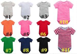 Newborn Jumpsuit Rompers Infants Soft Cotton Romper Baby Boy Girls Jumpsuits Summer Short Sleeve Jumpsuit Romper Overalls Boutique E8601