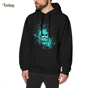 Tintenfisch Neuheit schwarz für Augen Mann mit Cyan Maske Sweatshirt drucken Einzigartige Design 3d leer NHBAH