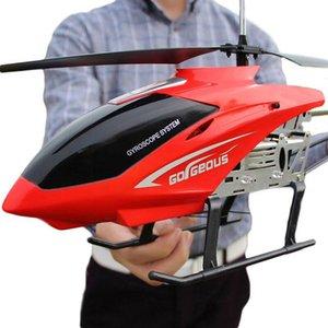 oyuncak insansız modeli İHA açık uçağı şarj 3.5CH 80cm Süper Geniş uzaktan kumanda uçak düşmeye karşı rc helikopter