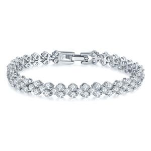 Novo diamante água austríaca Encantos Pulseiras Bangles alta qualidade Brialds Pulseira Bijuterias Zircon cúbico por Mulheres