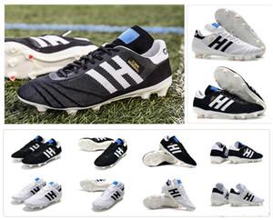 2019 Nueva Copa 70Y FG Negro Blanco 70 Año de edición limitada Zapatos Hombres Primeknit Copa Mundial de Fútbol de fútbol Botas Tamaño 39-45 Tacos
