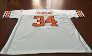 Männer Oklahoma State Cowboys # 34 Thurman Thomas College-Jersey-Größe S-4XL oder benutzerdefinierten beliebigen Namen oder Nummer Jersey