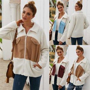 Fashion Autumn New Velvet fabric Zipper Jackets Coat Women's Fur Thicken Warm Outwear Winter Female Clothe S-3XL