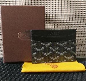 kutu ile En kaliteli Paris GY tarzı lüks tasarımcı klasik ünlü erkekler kadınlar ünlü hakiki deri goya kredi kartı sahibi, mini cüzdan