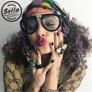 Decoración Sella Luxury Crystal Tinte Tinte Extranjero Piloto Brand Sunglasses Lens Mujeres Ocean Glasses Sombra plegable AODLP