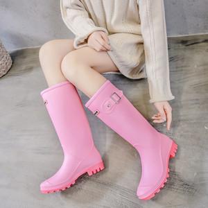 Sıcak Satış-Alf güzel motorlu 3 cm alçak topuklu su geçirmez welly buskin pembe büyük size36-41 bayanlar iş ayakkabısı ayakkabı