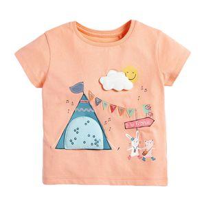 Bebek Kız Çocuk Bebek Kız Çocuk Pamuk Tişörtlü Y200704 için Little maven bebek 2-7Year Yaz Hayvan Unicorn Kısa kollu t shirt