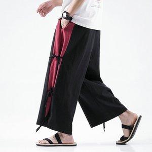 Pantalons pour hommes Linge de coton Linge large Hommes Style chinois Décontracté Jogging Grand 5xl 2021 Printemps Sweatpants de haute qualité