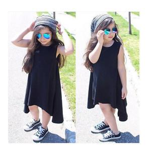 Hot-Selling Neonate Kids Casual Maxi Afghano Batwing citato Vestito Abbigliamento Outfit Asimmetrico Abito senza maniche 2-7Y