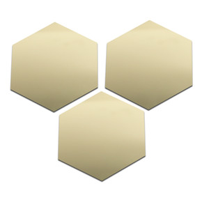 12pcs Shiny Crystal Hexagon Wall Stickers Home Decoration