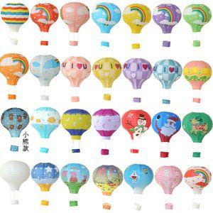 Lanterne en papier montgolfière deux couleurs épissage arc-en-ciel lanternes à pli décorer paquet d \ 'op vendre bien avec un style différent 3 8ly3 J1
