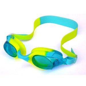 Дети Mounchain ясно плавательные очки анти-туман мягкий силикон вода-доказательство плавательные очки