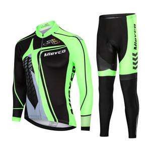 Autunno Ciclismo Set bicicletta Jersey lunghe maniche di camicia pantaloni tuta MTB Downhill Bike Cycling Sportswear Giacca con collant