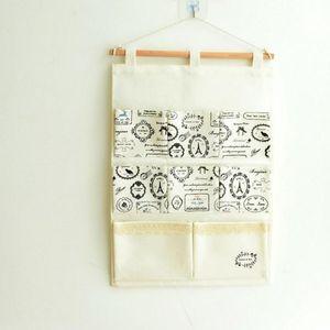 Multifunctional Fabric Cotton Linen Storage Bag Creative Hanging Bag Pretty Holder