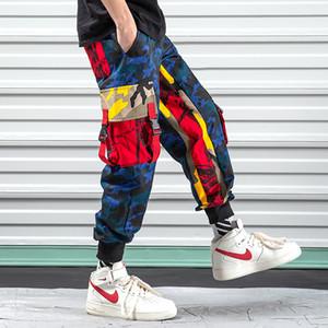 iiDossan Multi Bolsos Calças de carga Homens Joggers Camuflagem Macacões camuflados Harajuku Streetwear Calças HipHop calças de carga