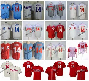Mens Vintage Montreal Expos Pete Rose Baseball Jerseys Cheap White Blue #14 Pete Rose Mens Red Stitched Shirts M-XXXL