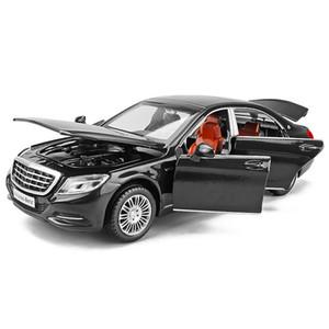 1/32 I modelli Maybach S600 Diecast metallo auto giocattolo di veicoli di alta di simulazione con la luce di musica 6 porte possono essere regali Aperto per bambini Y200109