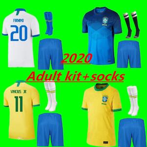 Kit per adulti 20 21 American Cup Brasile maglia da calcio G.JESUS 2020 2021 COUTINHO FIRMINO MARCELO uomini kit Brasil calcio maglie Camicia