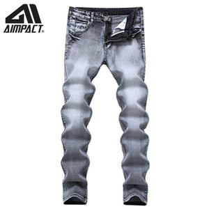 Aimpact Vintage Slim Fitted Men's Jeans New Fashion Elasticity Skinny Jeans Cool Hiphop Denim Casual Joggers Pants AM5308