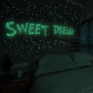 فقاعة 3D نجوم نقاط مضيئة ملصق الحائط DIY نوم الاطفال ديكور غرفة الوهج في الظلام نيون لعب الساخن بيع