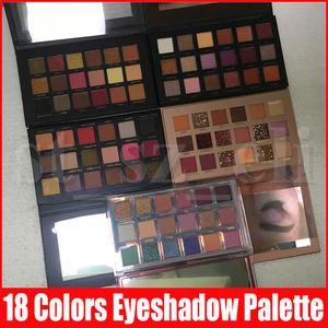 Marca Ojos gama de colores del maquillaje del brillo del reflejo de 18 colores de sombra de ojos mate cosméticos paleta