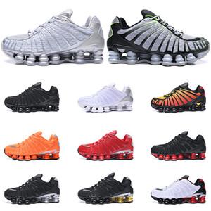 Nike Shox TL мужчины кроссовки Тройной черный белый Pure Platinum Clay Orange Sunrise Lime размер Доменные тренеры спортивных кроссовок 40-46