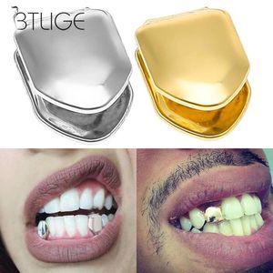 Or Sliver couleur tendance rock Rapper Hip Hop Caps Top Mold Bijoux Bottom Grill Corps unique dent bling 1pc dents