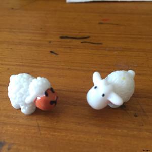 Mini Sevimli Beyaz Bebek Koyun Aşıklar Bitki Pot Doll Aksesuarları El Sanatları Moss Teraryumlar Mikro Peyzaj Peri Bahçe Masaüstü DIY DBC BH3144