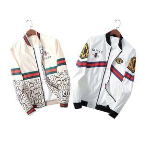 2020 Marken-Designer-Mode für Männer Meduse Jacke Windjacke Langarm Männer Jacke Zipper Tier Letter-Muster beiläufige Männer M-3XL
