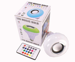Hot Selling Smart LED E27 Light RGB Wireless Bluetooth Speakers Bulb Lamp Music Playing Dimmable 12W Music Player Audio Free Shipping