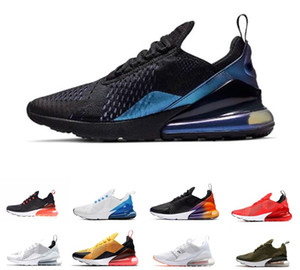 2019 New Nike Air Max 270 27C Teal Chaussures de plein air 2 étoiles France Hommes Hommes Flair Triple Black White Trainer chaussure Medium Olive Bruce Lee baskets 40-45