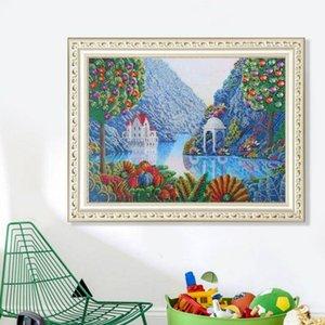 Hot 5d New DIY rahmenlos Diamanten Pfau Wohnzimmer Schlafzimmer Mauerwerk Explosion Landschaft dekorative Malerei mit Handarbeitsprodukte Werkzeug Malerei
