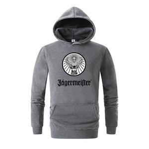 브랜드 남성 예거 마이스터 인쇄 양털 후드 스웨터 겨울 남여 힙합 스웨그 스웨터 후드 여성 후디 의류 3D