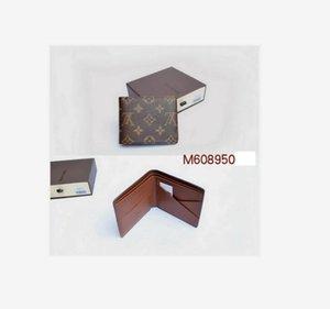 el envío 2020 nueva bolsa libre billetero de alta calidad de la tela escocesa de los hombres de las mujeres del modelo de cartera puros de gama alta carpeta del diseñador con la caja 60223