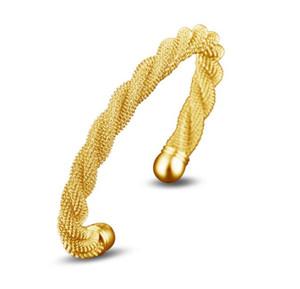 Twist дизайнер ювелирных изделий Браслеты Серебро Золото Браслеты Open Браслет манжета для женщин девушки подарка
