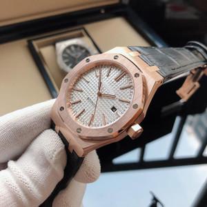 2019 Royal Oak Mens Watch Mouvement automatique mécanique luxe Montre-bracelet Marque Designer Montres en cuir véritable de qualité supérieure Montre classique