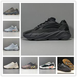 Kanye West 700 v2 Dalga Runner Vanta 3M Karbon Mavi Siyah Koşu Ayakkabı Erkek Bayan 700s Atalet Sneakers Eğitmenler