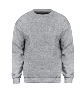 Solid color Sweatshirt Men Hoodie Crewneck Sweatshirts Winter Autumn Fleece Hoody Casual Gray Blue Red Black White Streetwear