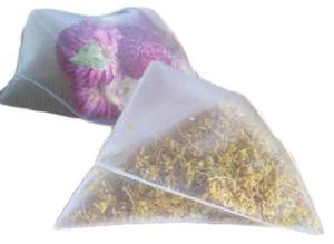 2019 Nylon Tea Filter Bag Transparent Bags Empty Pyramid Tea Bag Heat Sealed