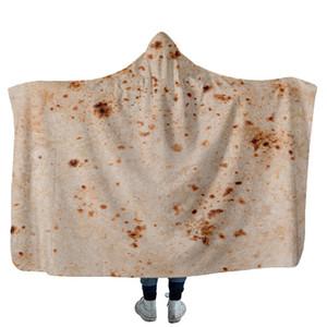 Мексика Тортилла Крем Ковер с капюшоном Pad Полента торт зима Держите теплое одеяло 150X130 Желтый Комфорт Новый 45yda C1